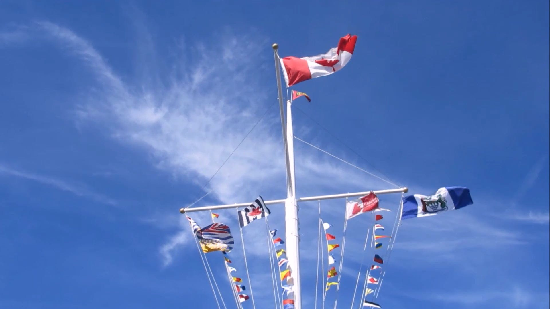 Flags Swaying In The Wind