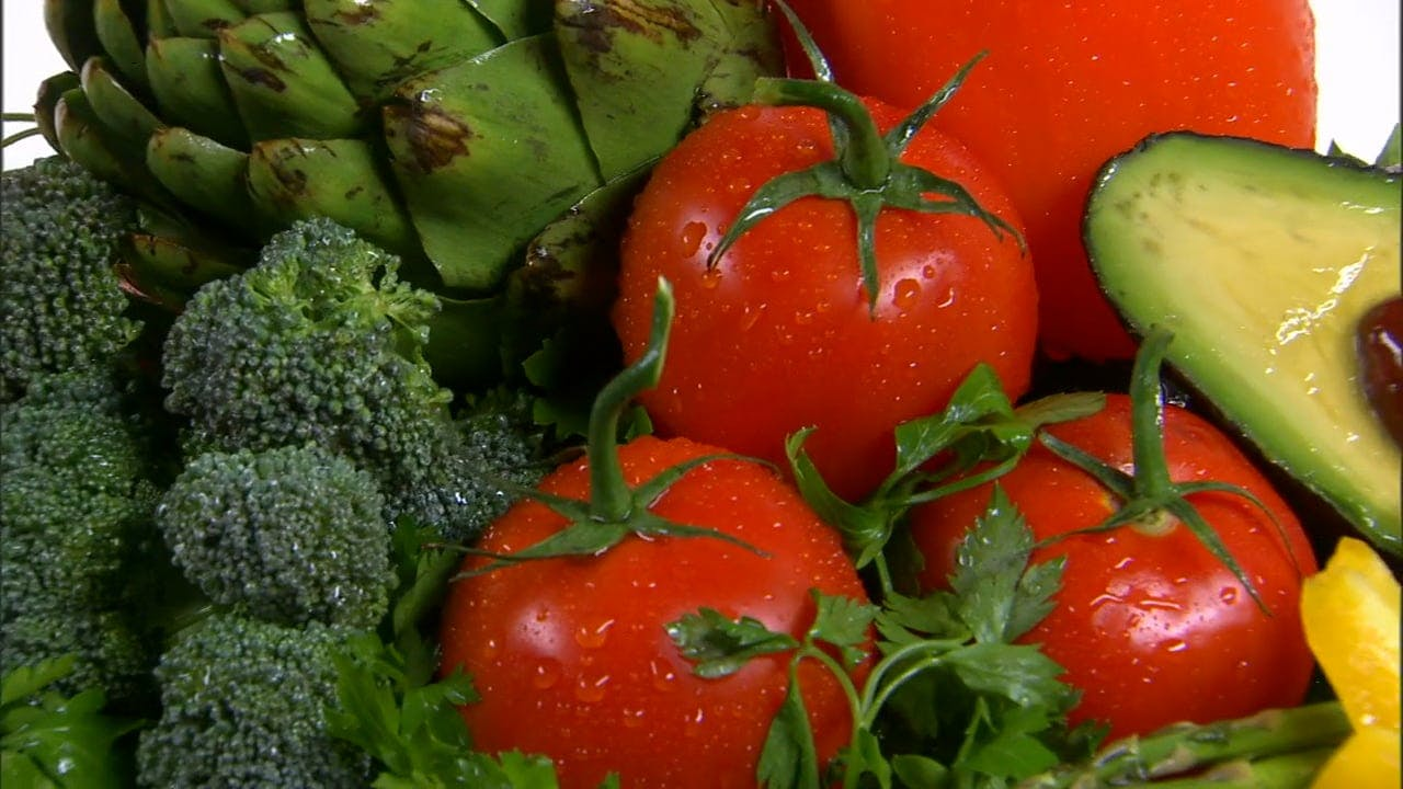 Close Up Video Of Vegetables