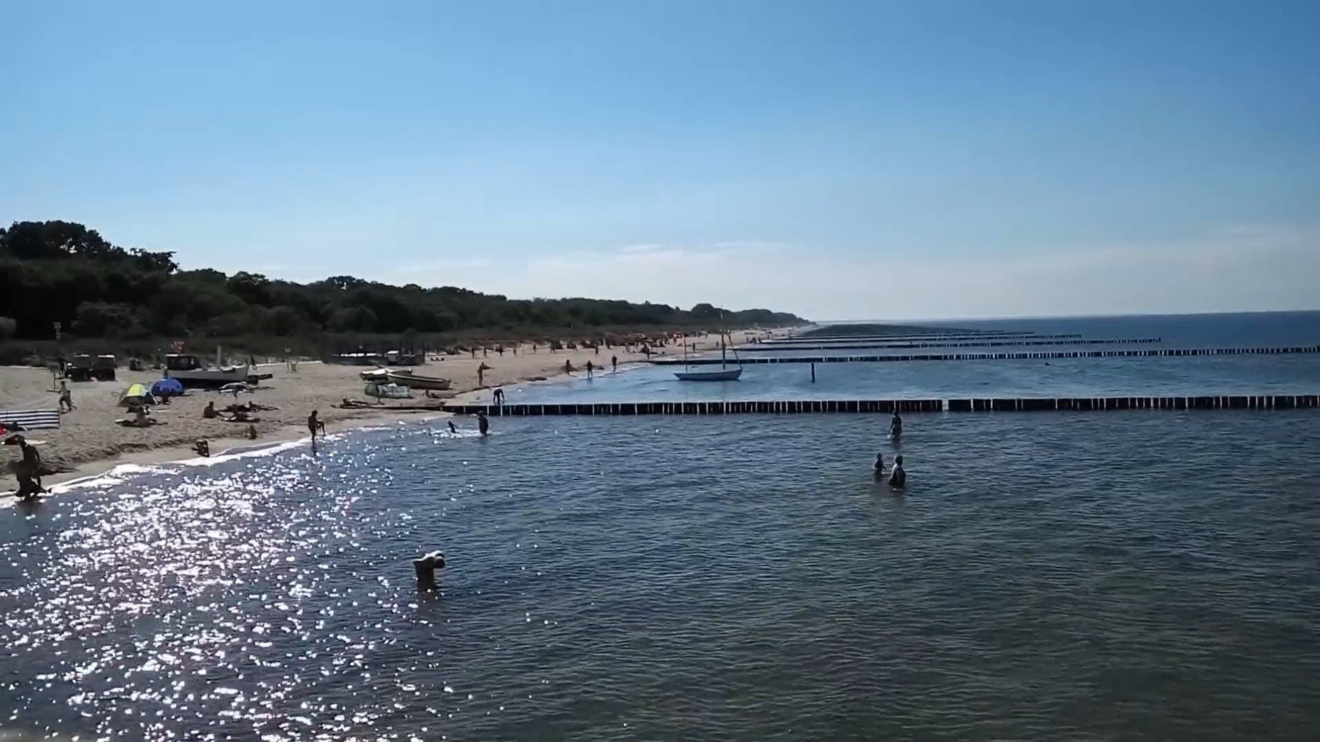 Enjoying The Beach Water