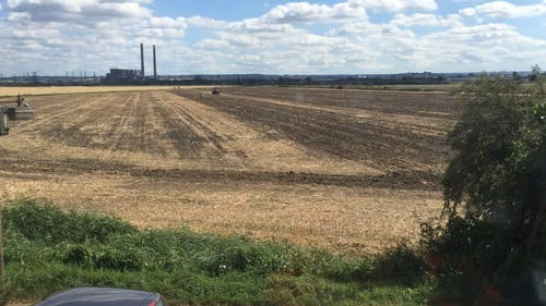 Time Lapse Video Of Tractor In Field