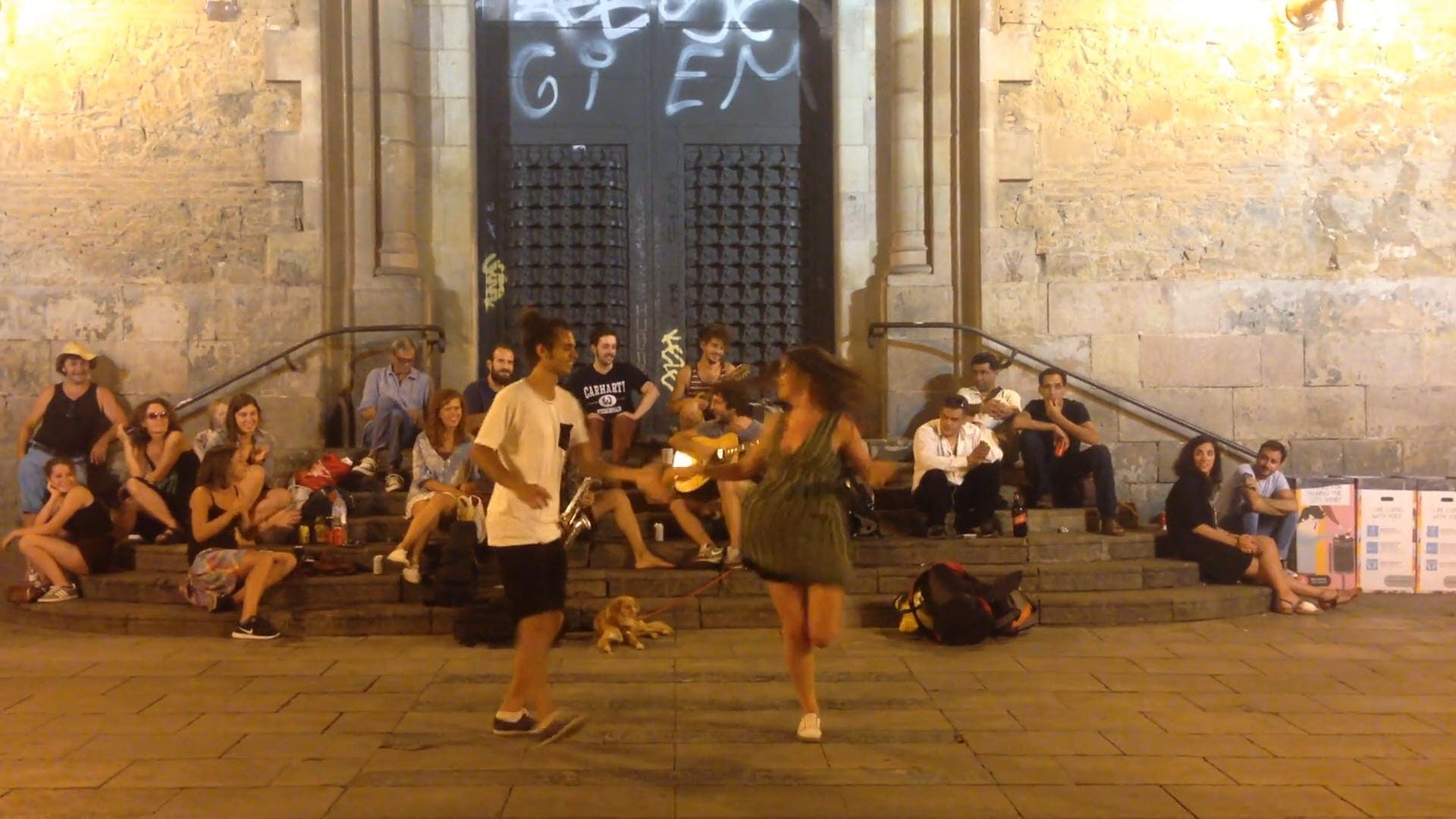 Musicians And Dancers On The Street