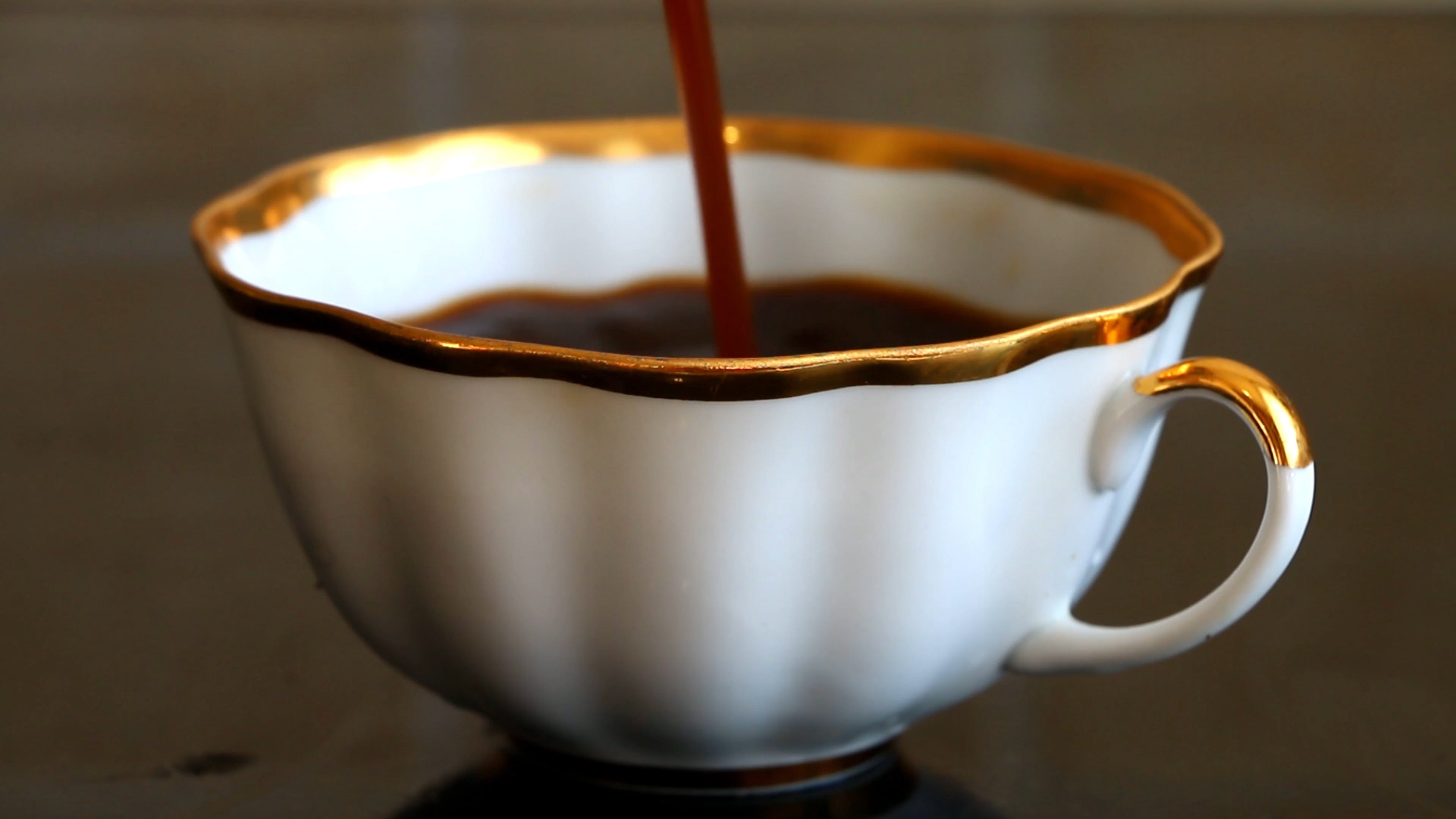 Pouring Of Coffee
