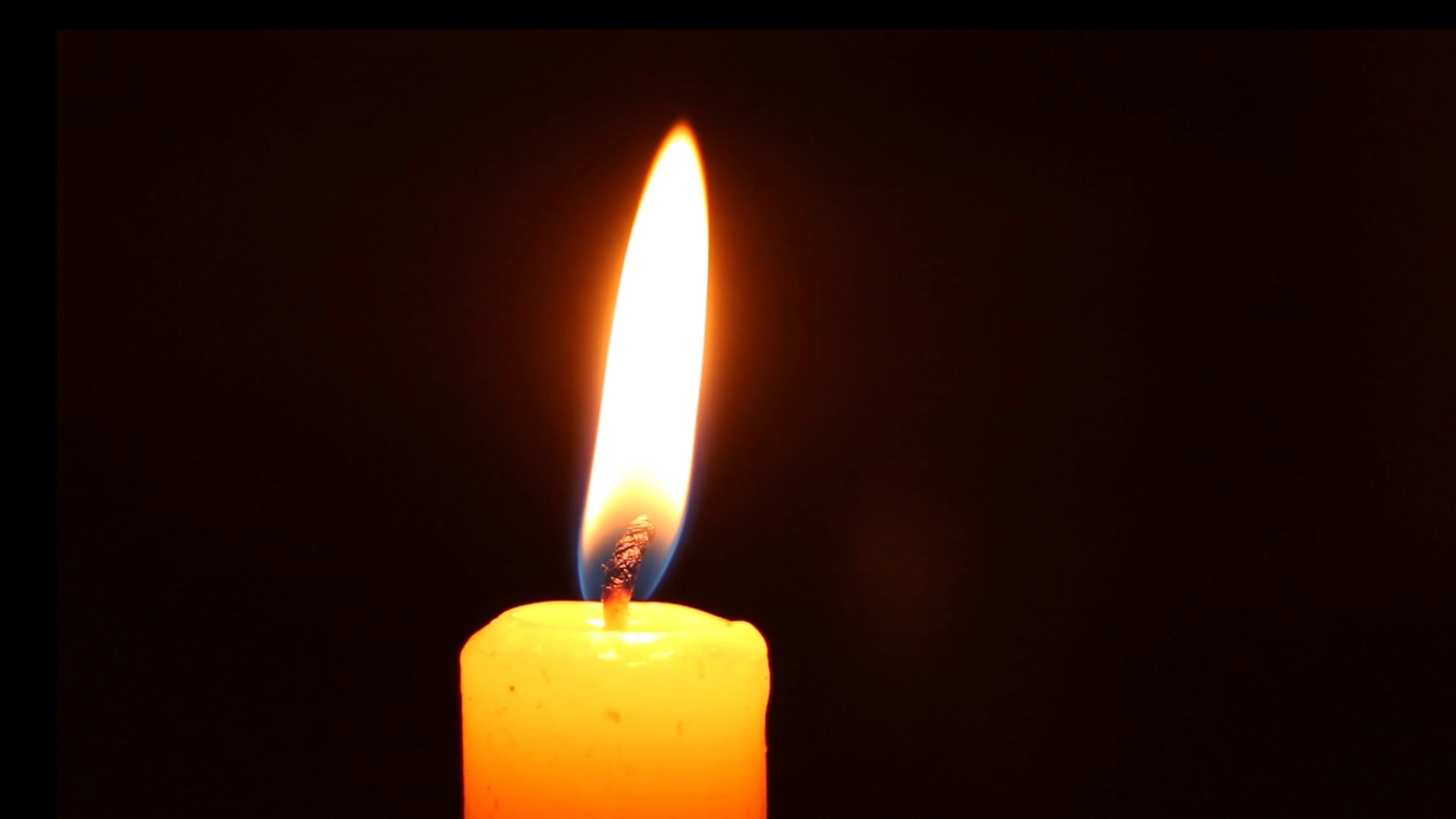Close-Up Shot Of Candle