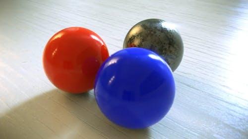 Three Balls Spinning