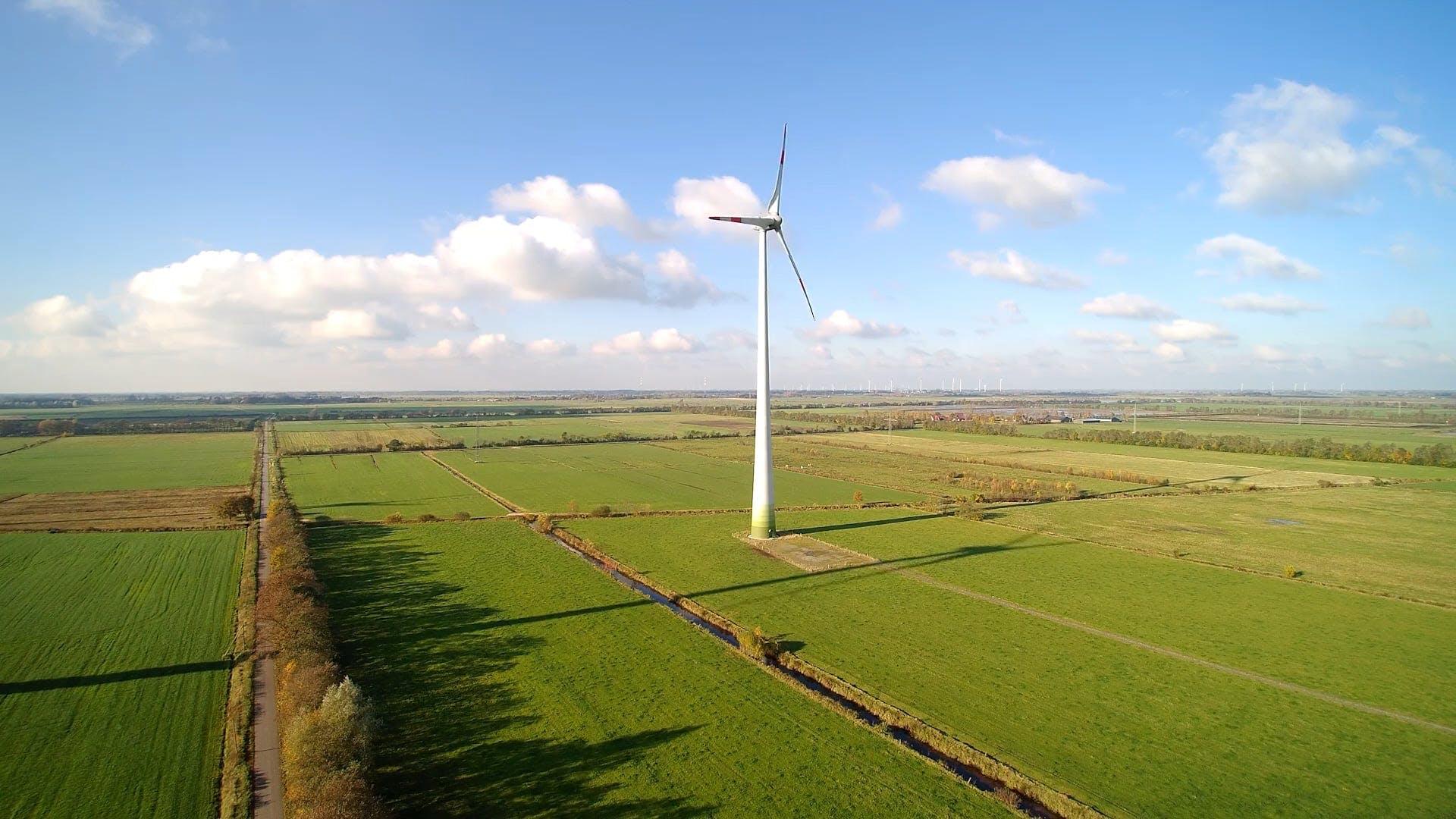 Wind Turbine On Field