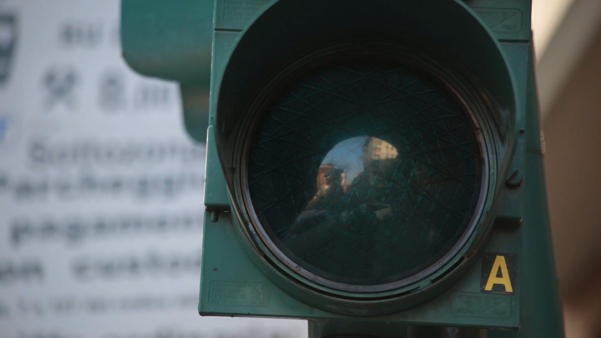 Close Up Of Green Traffic Light