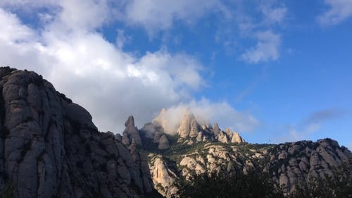Video Of Clouds Over Mountain