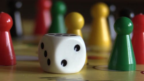 Board Game With Dice And Pins