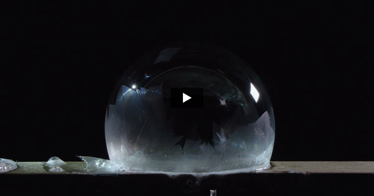Crystallizing Bubble Video