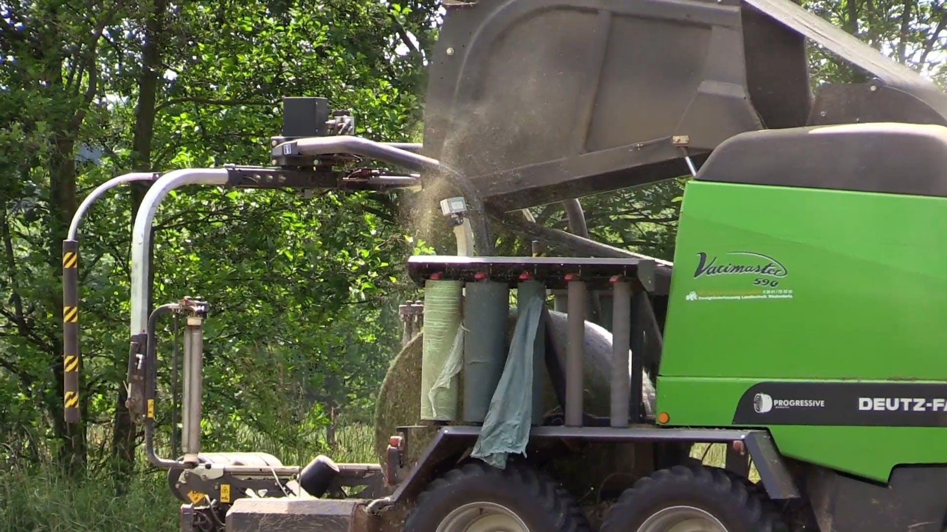Green Hay Bale Maker