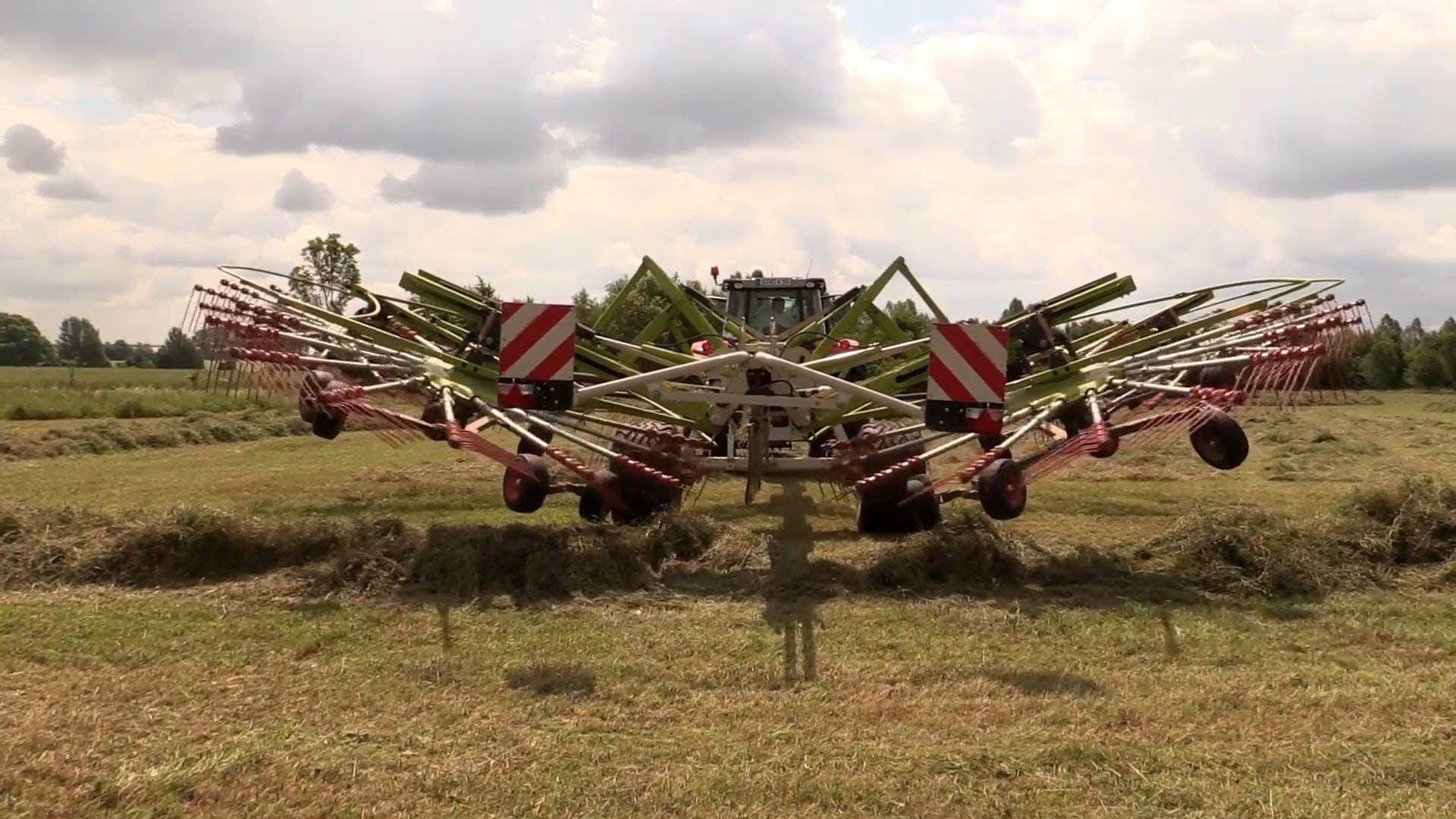 Haymaking Using Tedder Machine
