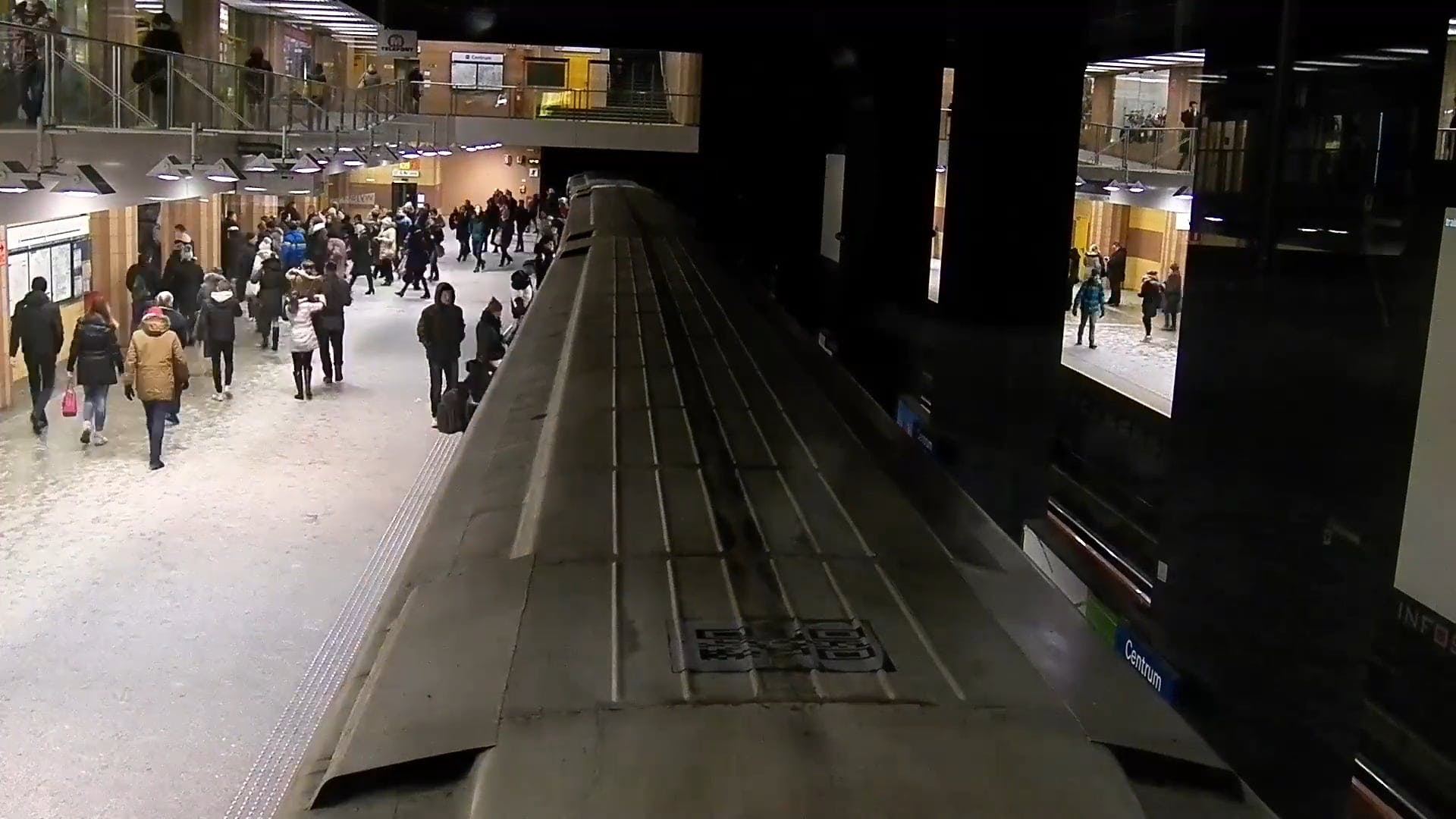 Time Lapse Video Of People At Subway Station