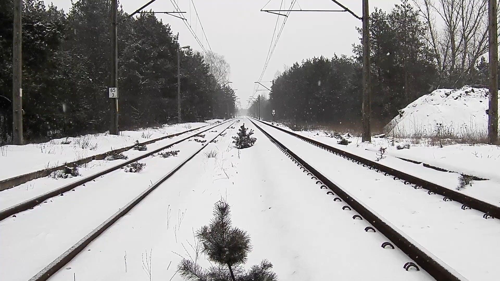 Snowy Railroad Video