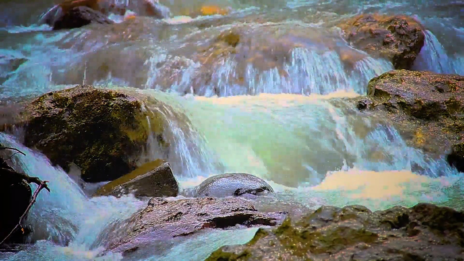 Close Up Footage Of Waterfalls