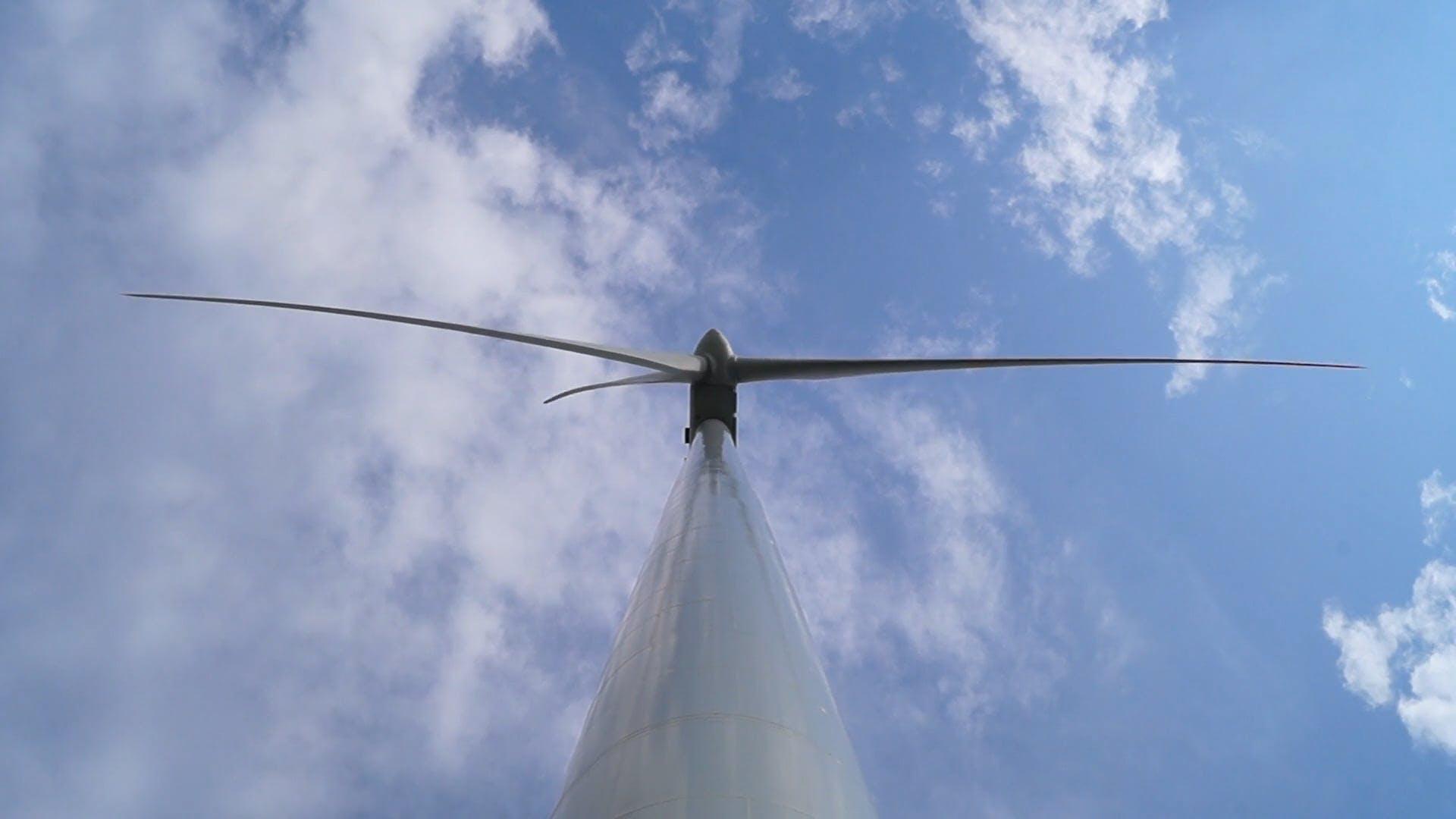Low Angle Shot Of Wind Turbine