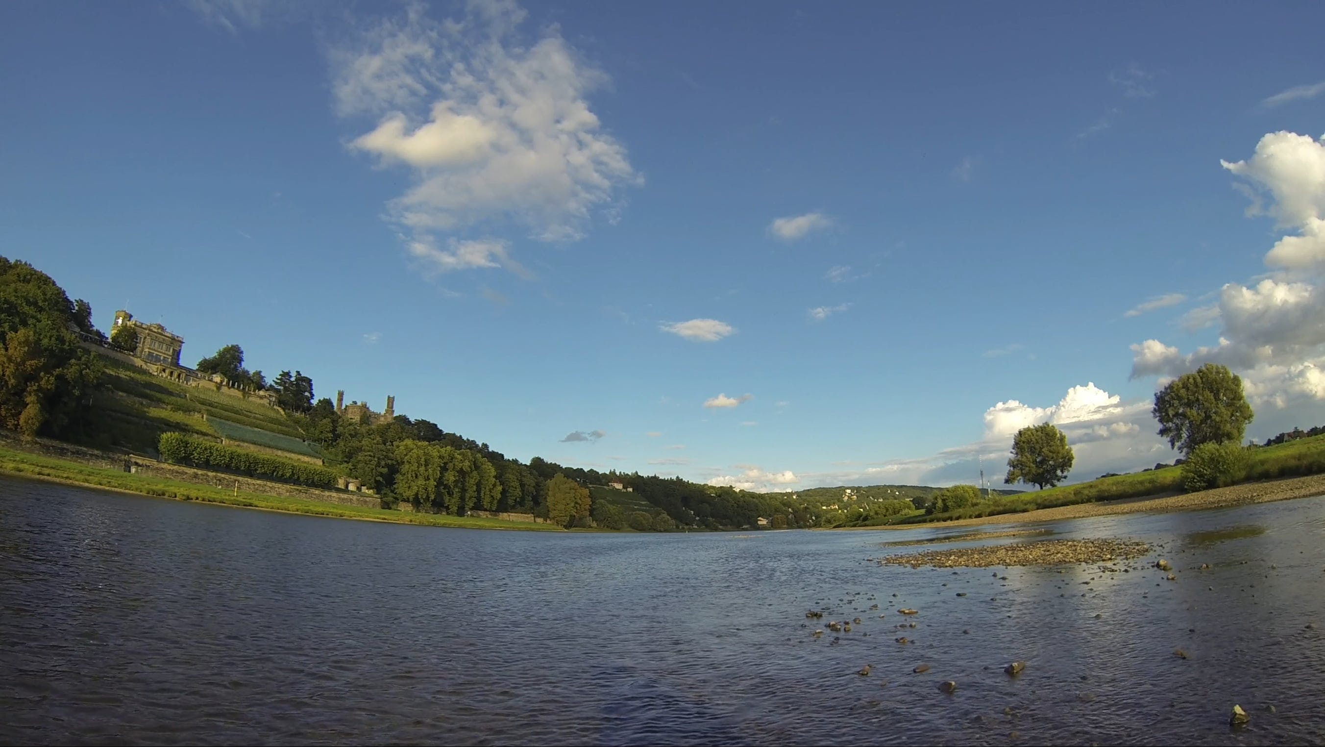 180 Degree View Of River