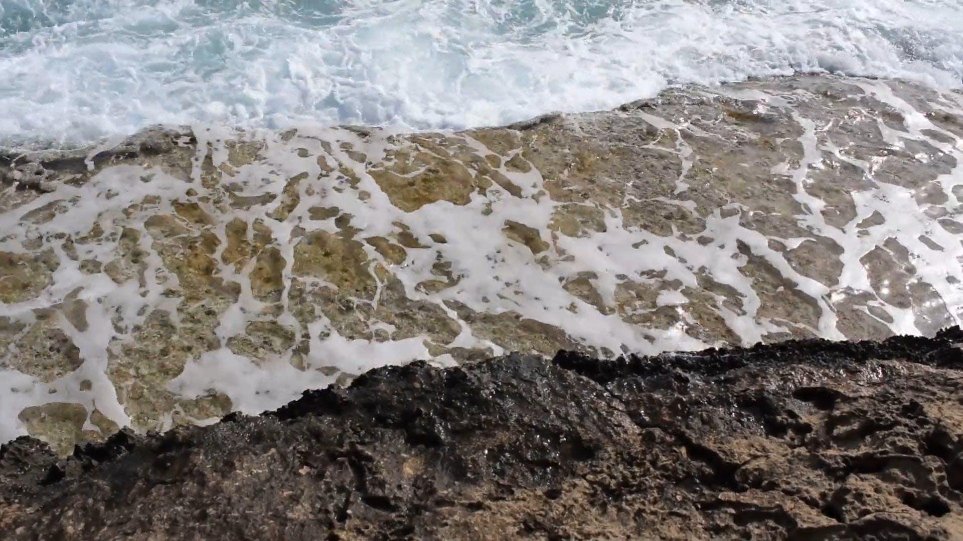 Waves Hitting Shoreline