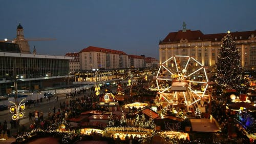 Striezelmarkt In The Evening