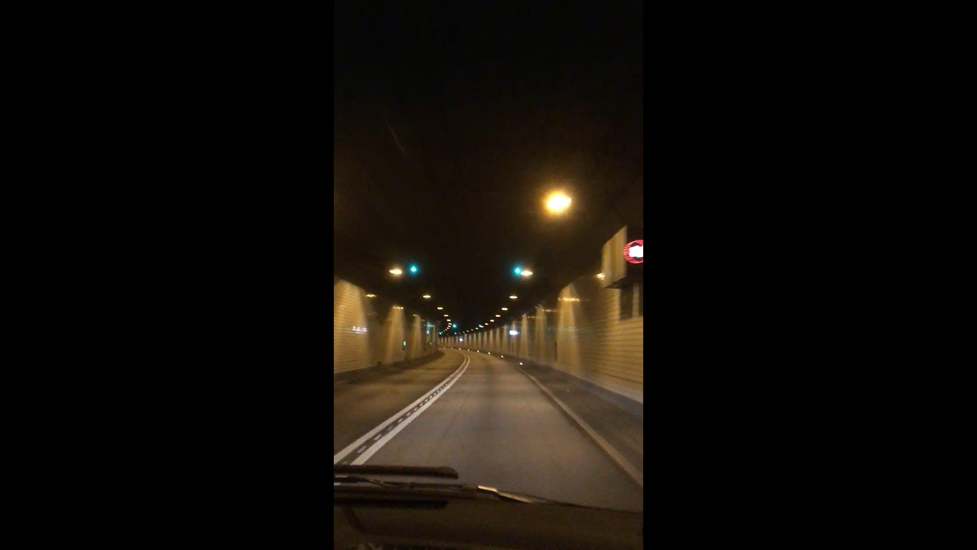 Roadtrip Inside A Tunnel