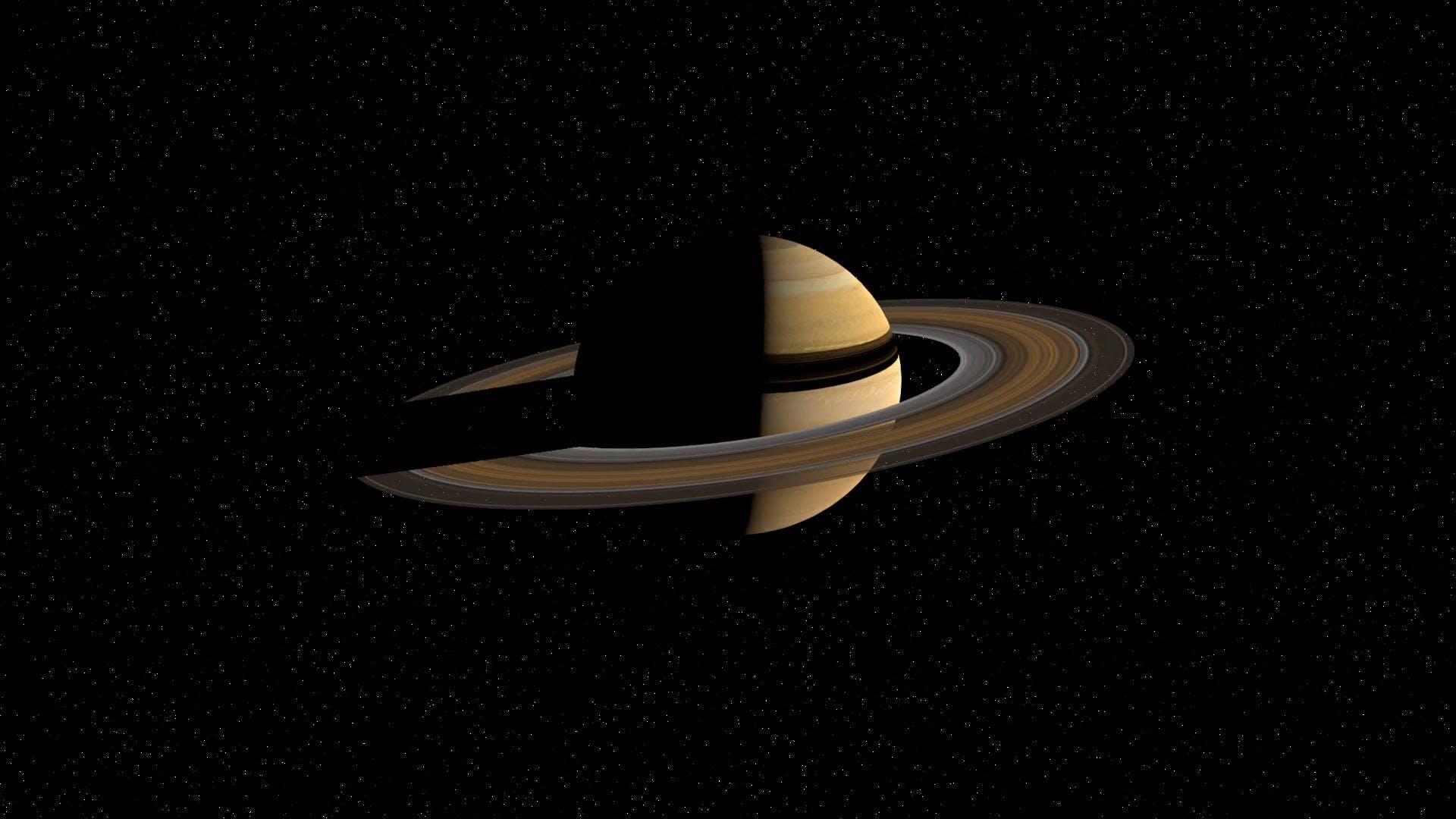 Saturn Rotating