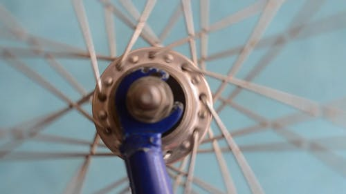 Close-Up Video Of Bicycle Spokes