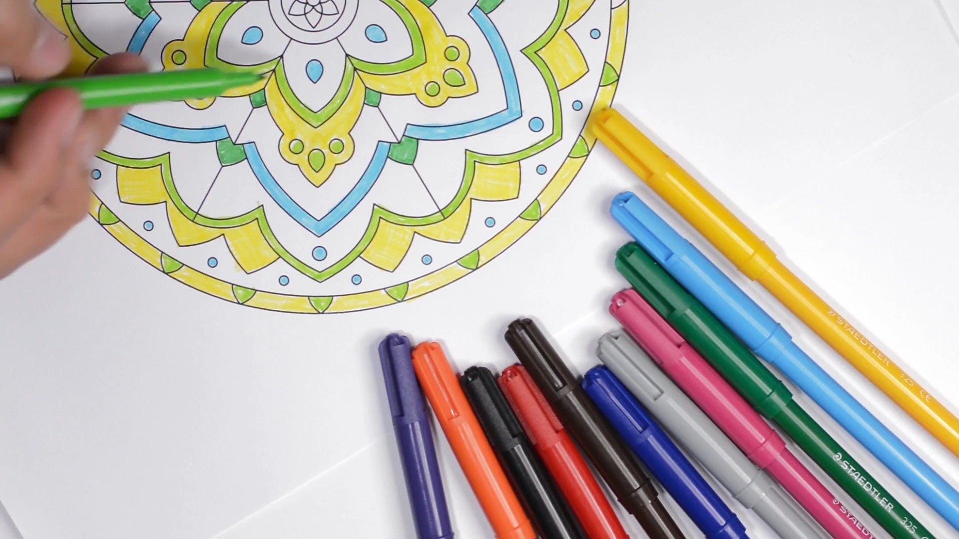 Coloring Kaleidoscope Pattern