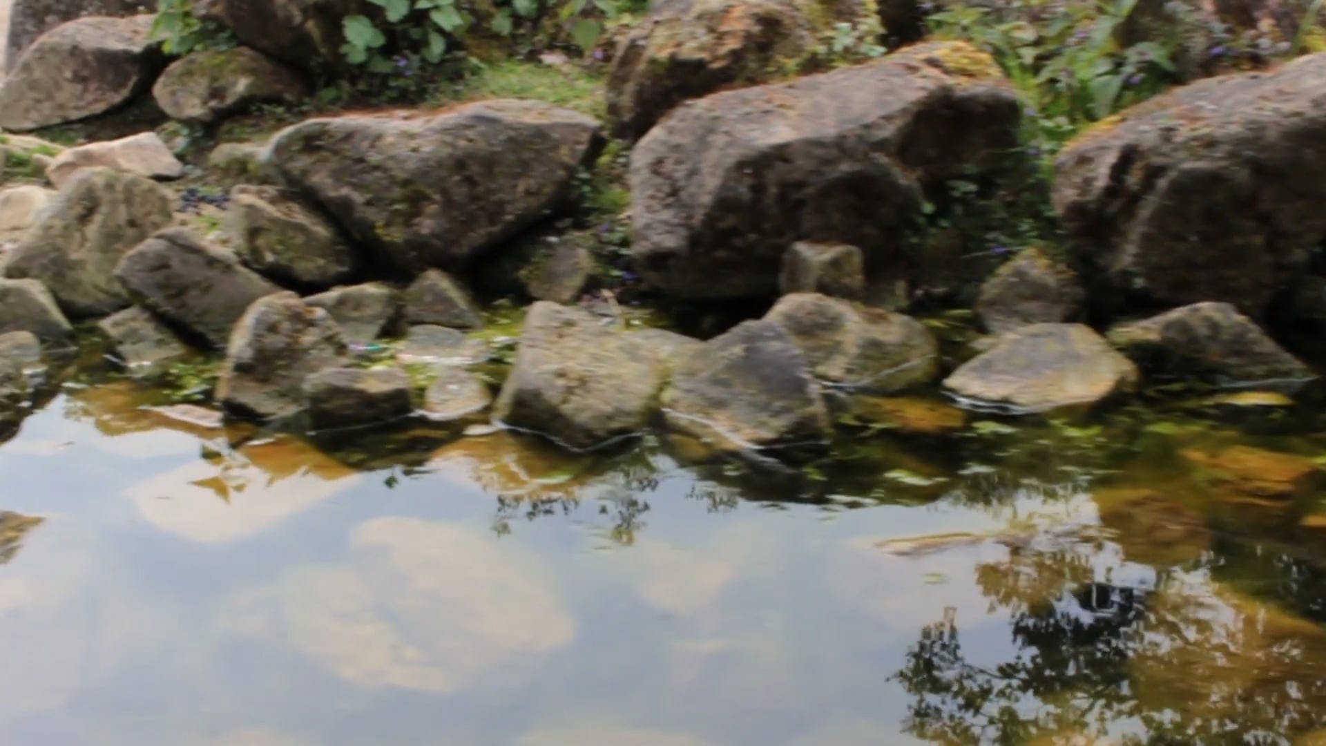 Big Rocks On Water