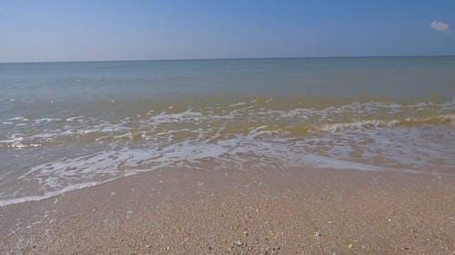 Beach Waves Hitting Shore