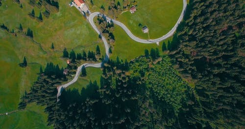 Aerial Shot Of Land