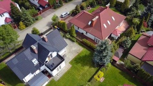 Aerial Shot Of Village