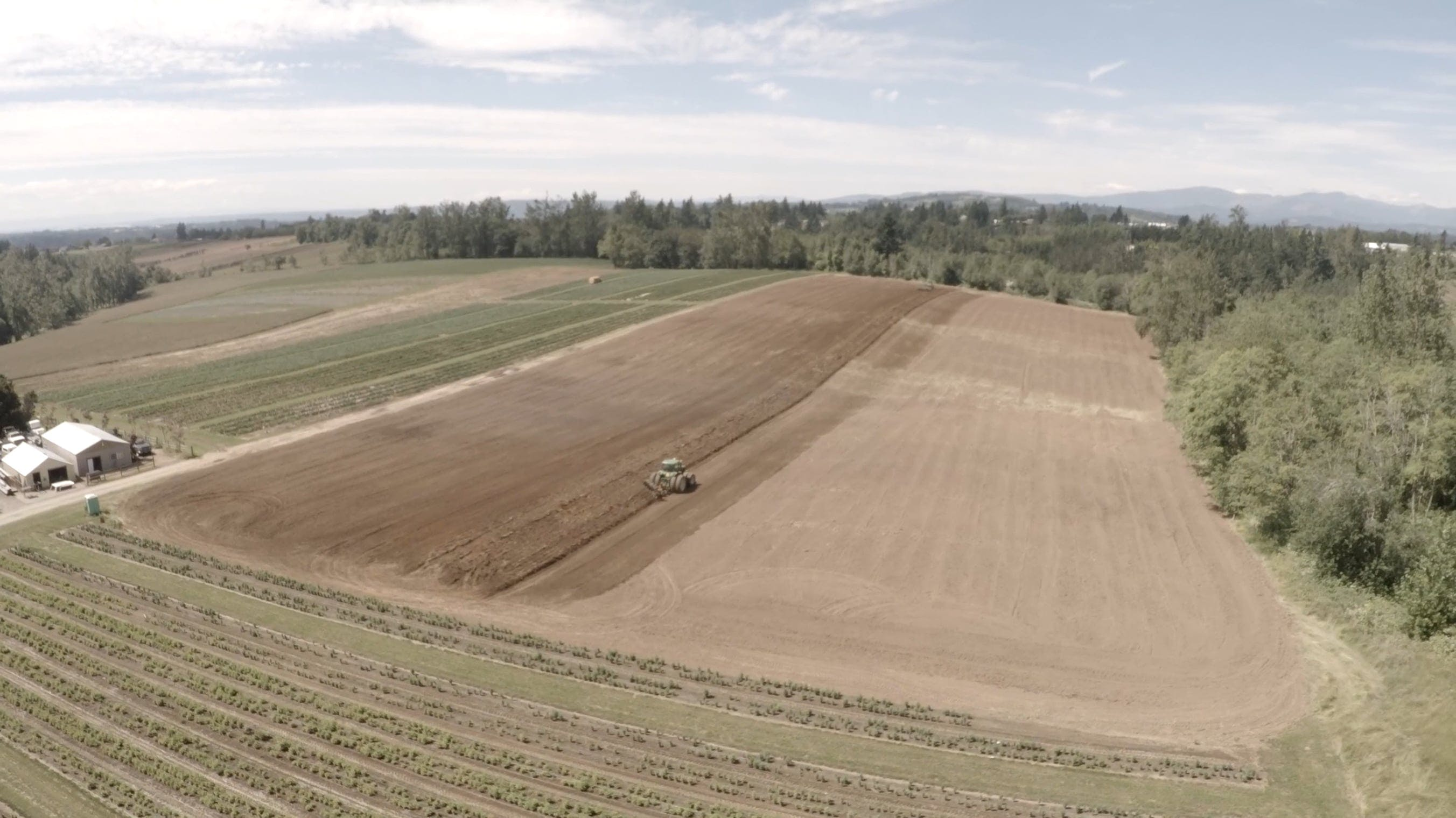 Drone Shot Of Farm