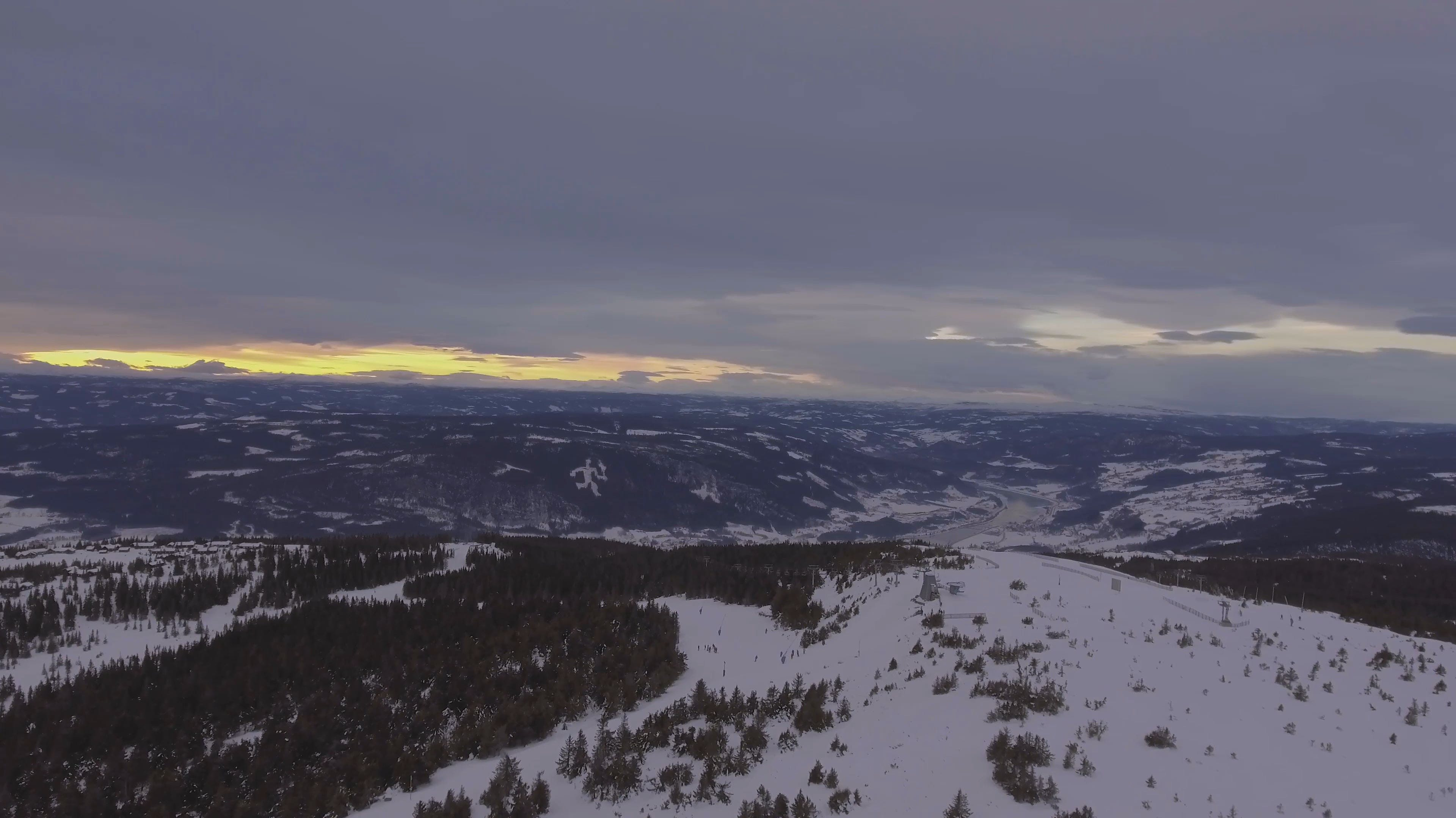 High Angle View Of Snowy Mountain