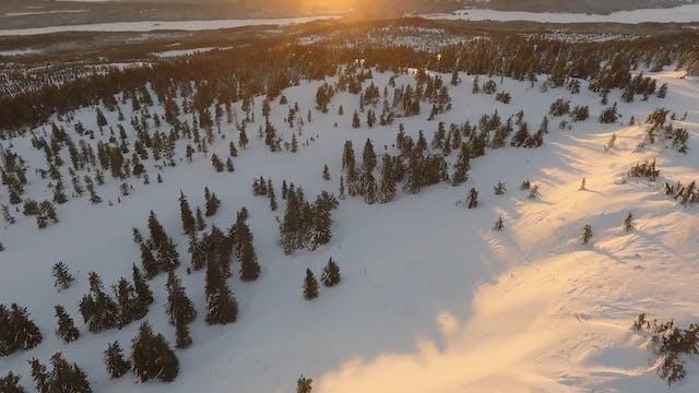 Aerial Shot Of Sunset