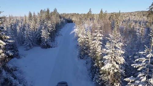 Roadtrip On Snowy Road