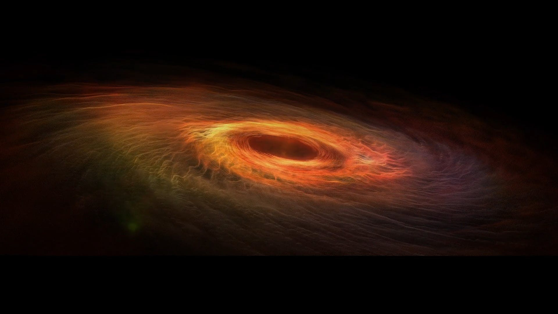 CG Animation Of Black Hole