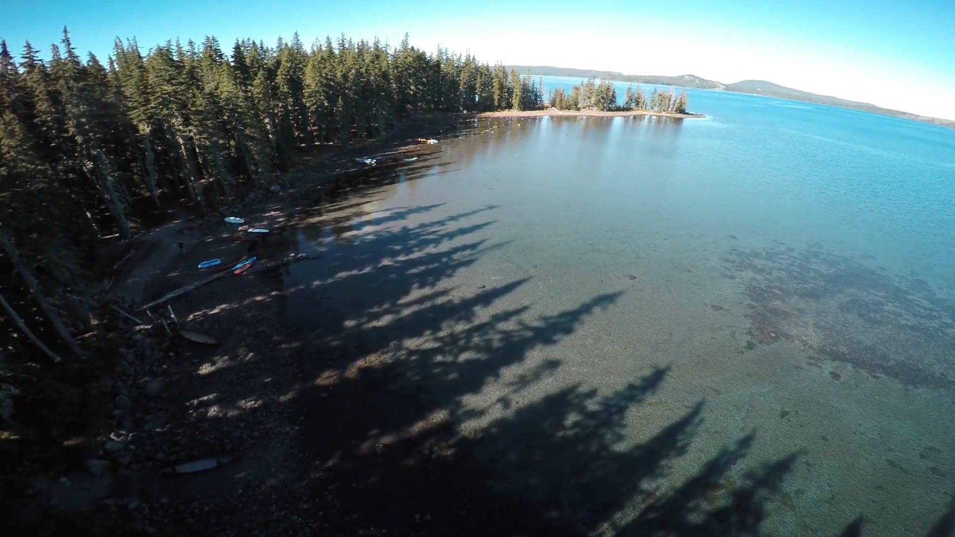 Aerial Shot Of Lake