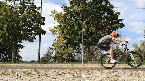 Biker Doing Stunts