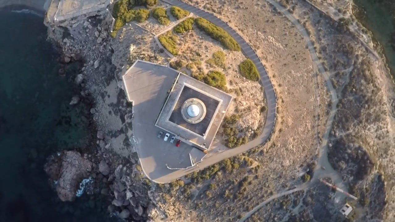 Aerial Shot Of Lighthouse