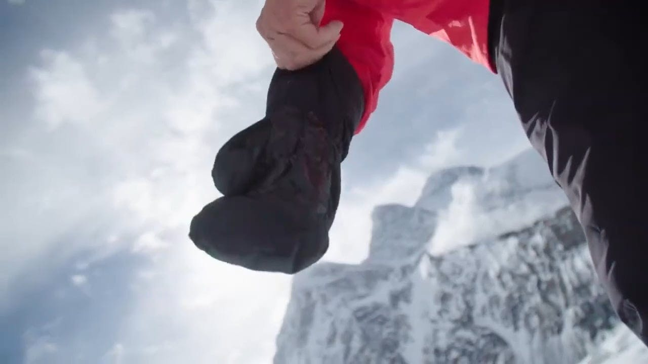 Video Footage Of People Climbing A Mountain