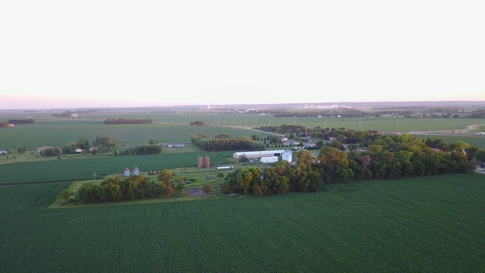 Aerial Drone Footage of Countryside