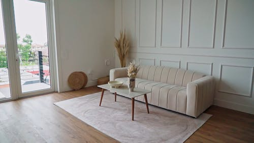 Video of a Sofa and Table