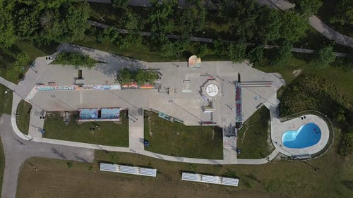 Drone Footage of a Skatepark
