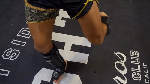A Person Kicking