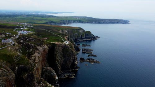 Drone Footage of a House at the Edge of a Cliff