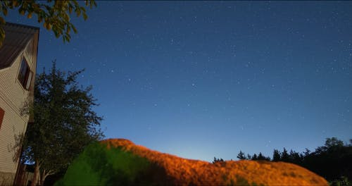 Time Lapse Video of Shooting Stars