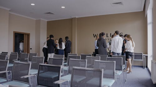 People Having a Break at a Business Conference