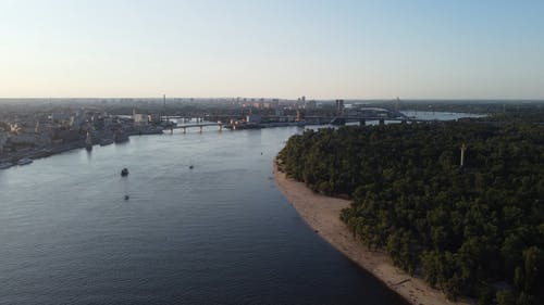 Aerial Footage of a River