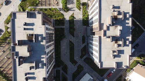 Birds Eye View of High Rise Buildings