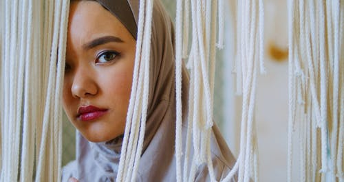 Close up of a Woman in a Hijab