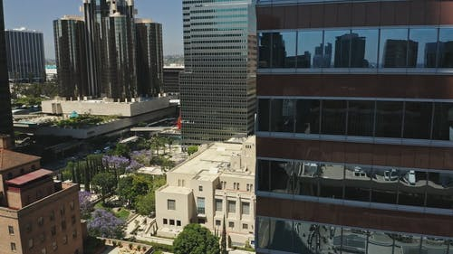 Drone Footage of Modern City Buildings